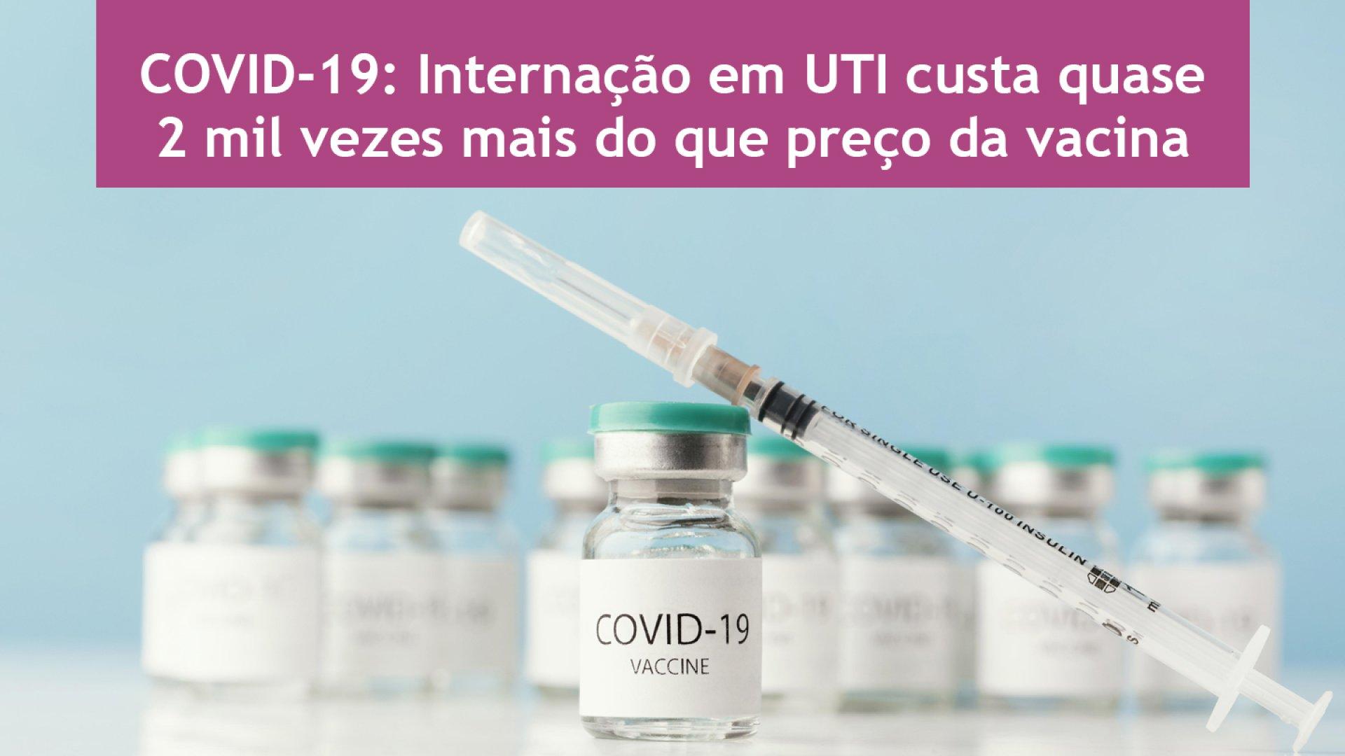 [Covid-19: Internação em UTI custa quase 2 mil vezes mais do que preço da vacina]